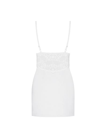 Camisa De Noite E Tanga 810-Che Obsessive Branca - 36-38 S/M - PR2010346159
