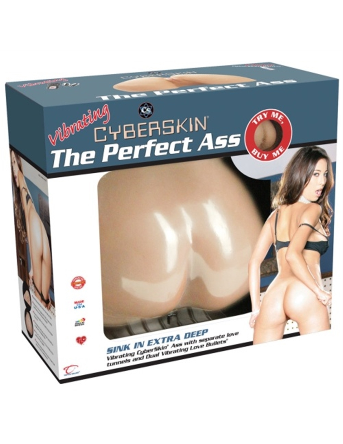 Masturbador Vibratório Perfect Ass Branco - PR2010320505