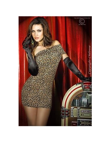 Vestido Cr-3322 Leopardo - 36-38 S/M - PR2010318420
