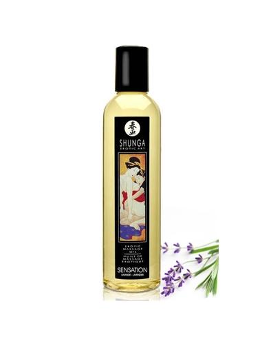 Óleo De Massagem Shunga Sensation Lavanda - 250ml - PR2010300685