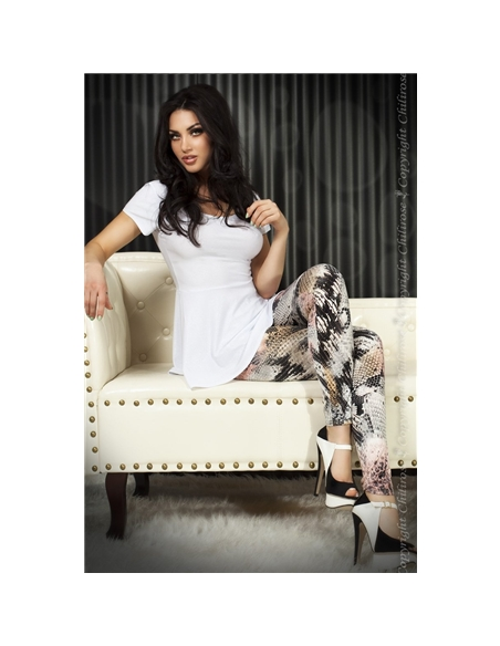 Leggings Cr-3457 Rosa E Pretas - 40 L - PR2010319950