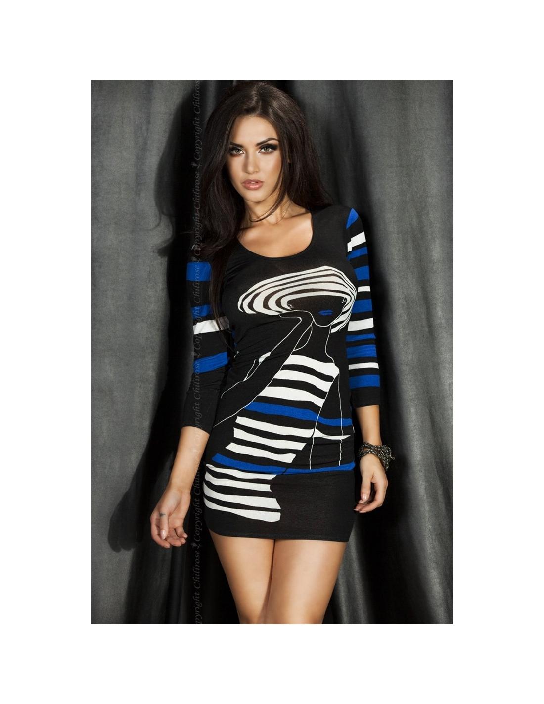 Vestido Cr-3535 Azul - 36-38 S/M - PR2010320312
