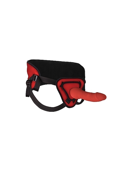 Strap-On Ouch! Deluxe Silicone 25,5Cm Vermelho - PR2010343383