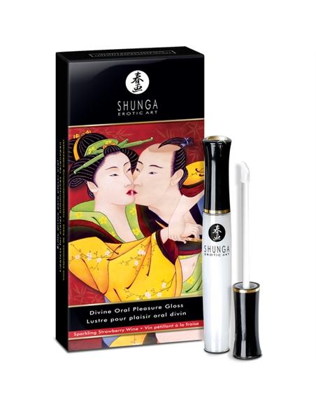 Shunga Divine Oral Pleasure Gloss Champanhe Morango - 10ml - PR2010299654
