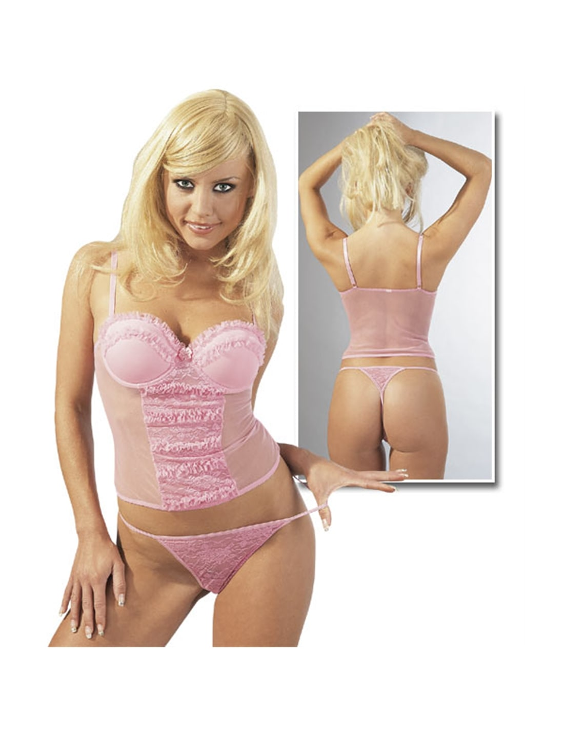 02145310000 - Top Rosa Com Tanga 80B/M - 80B/M-DO29000543