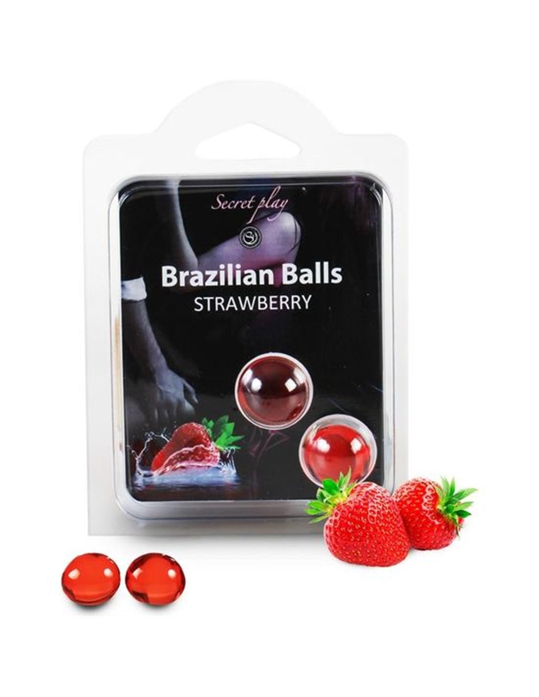 14350 - Bolas Lubrificantes Beijáveis Brazilian Balls Sabor A Moran-PR2010314260