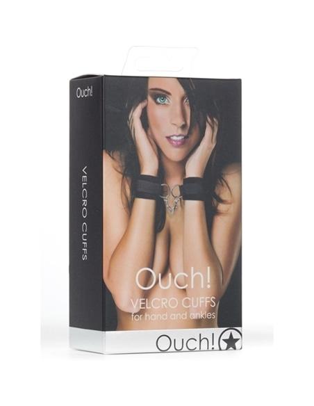 Algemas Ouch! Velcro Handcuffs Pretas - Preto - PR2010320468