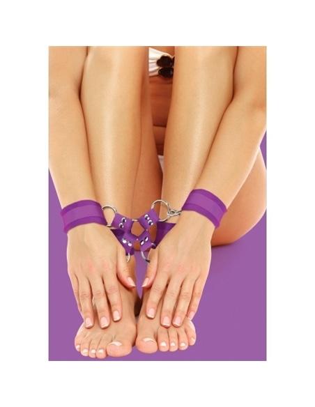 Algemas para Os Pulsos e Tornozelos Ouch! Velcro Hand And Leg Cuffs Roxas #1 - PR2010318022