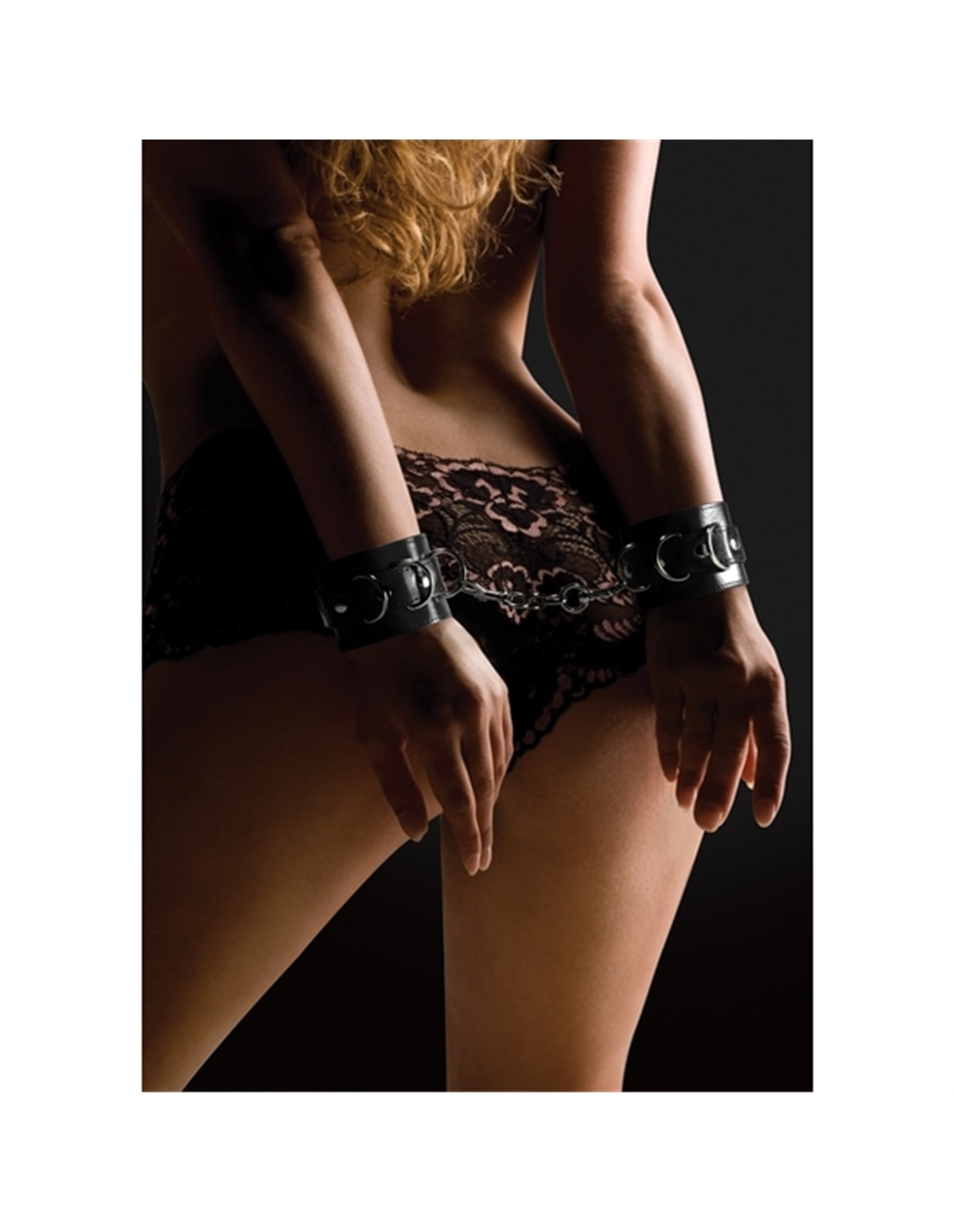 Algemas Ouch! Leather Handcuffs Pretas - Preto - PR2010320469