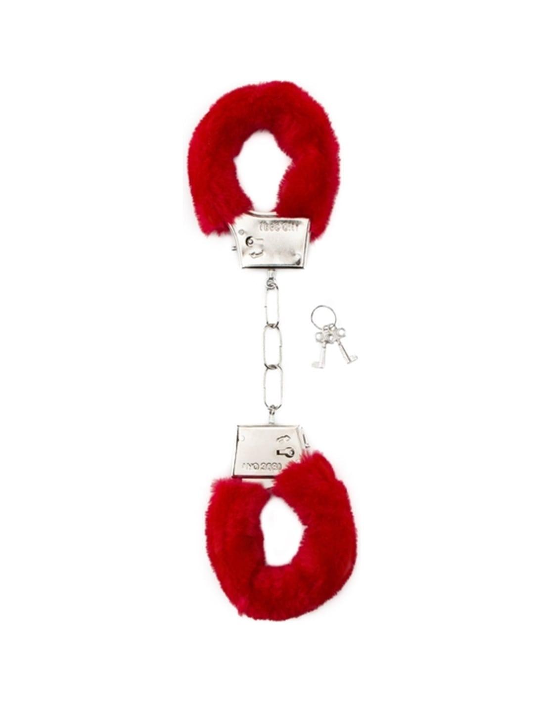 Algemas com Peluche Furry Handcuffs Vermelhas - Vermelho - PR2010328655